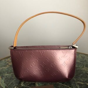 Louis Vuitton AmaranteMat monogram leather handbag
